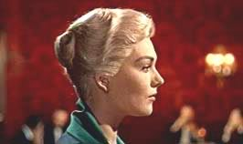 Kim Novak in Vertigo; note the spiral. Also resembles the profile in Pisanello's fresco inspected by Sebald in Verona.